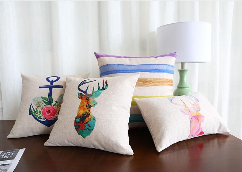 ✅Venta al por mayor de algodón de lino cojín cubierta de decoración ...