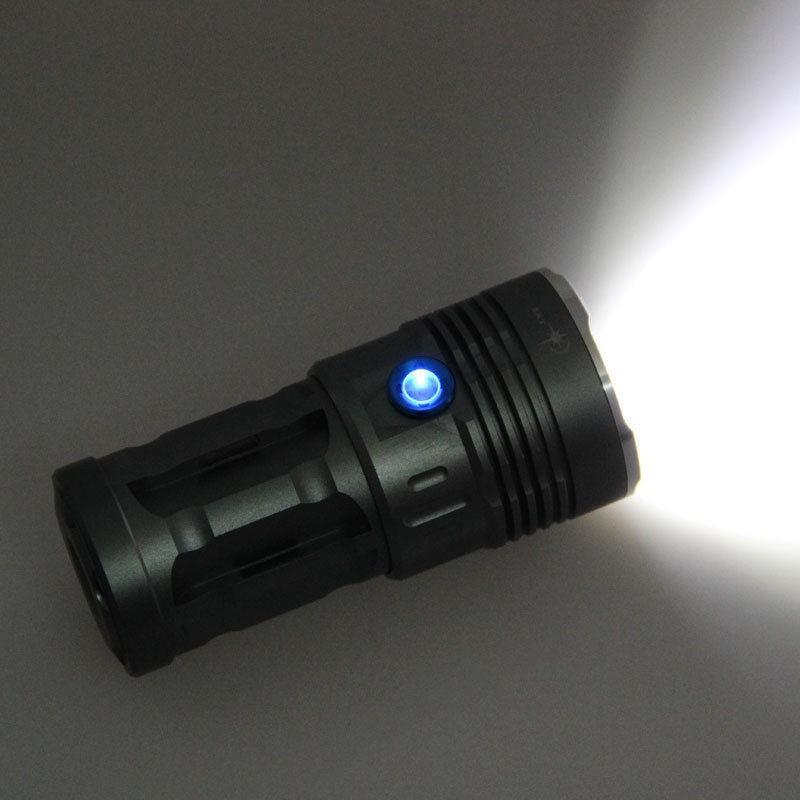 Ledeak 1000 Lumen Led Torche Guidon Zoomable 5 Modes Ultra Puissante avec Chargeur USB Lampe de Poche Holster Tactique Militaire Lampe de Poche 18650 Batterie Rechargeable