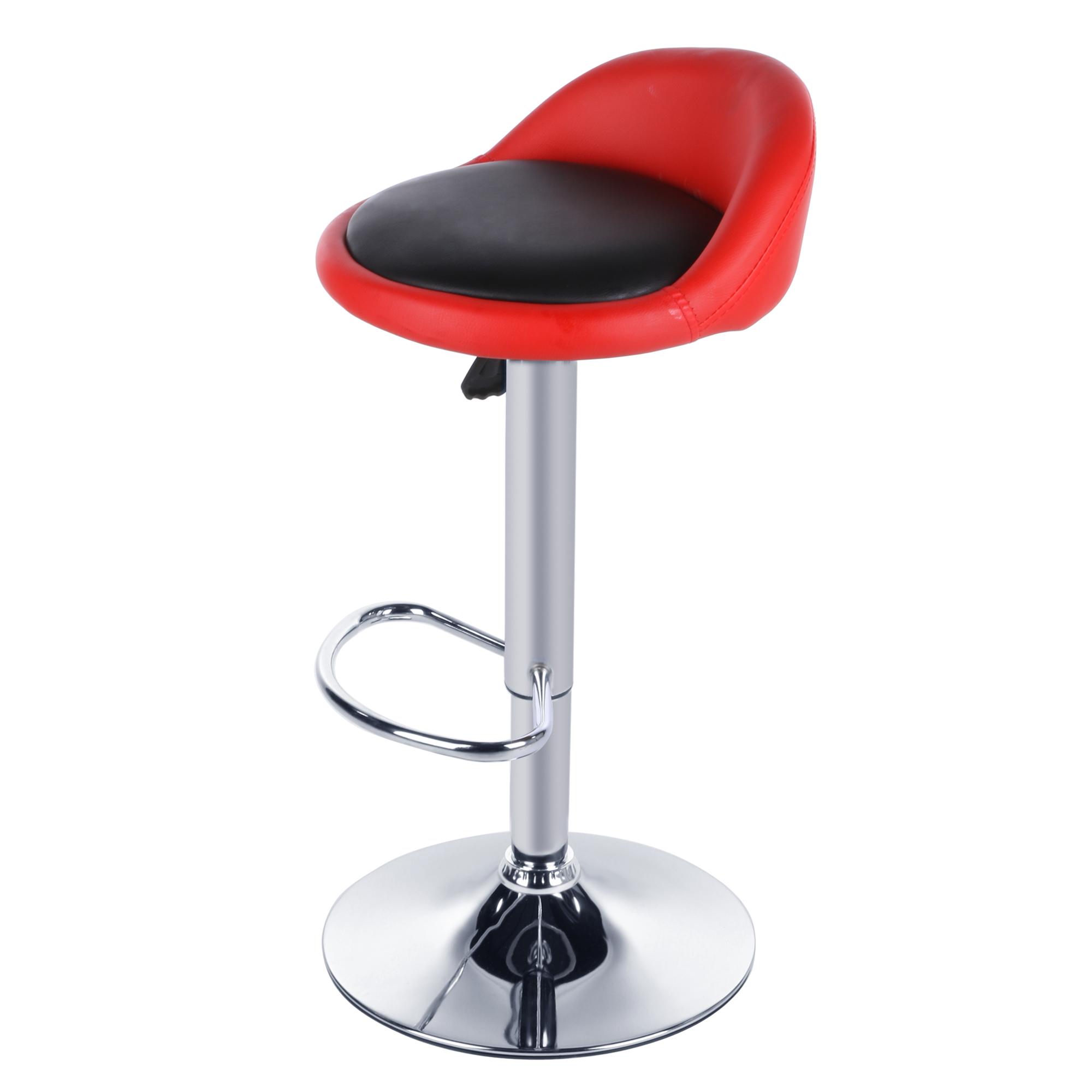 revolving chair bar stool blue arm aliexpress buy homdox 2pcs synthetic leather