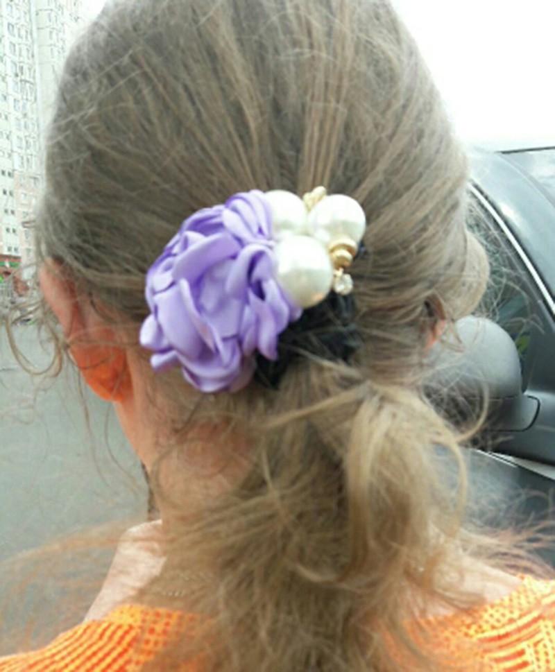 Head Band-Crème Fleur Rose Cristal-Couronne de cheveux bande Junior-Adulte S m1