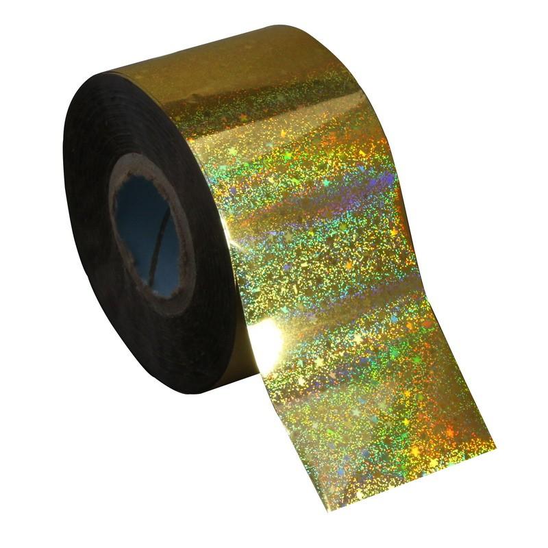 ②Nueva llegada brillante brillo nail foil roll holográfico Arco ...
