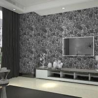 papel de parede 3d wall panel Grey Brick Wall Stone Creek ...