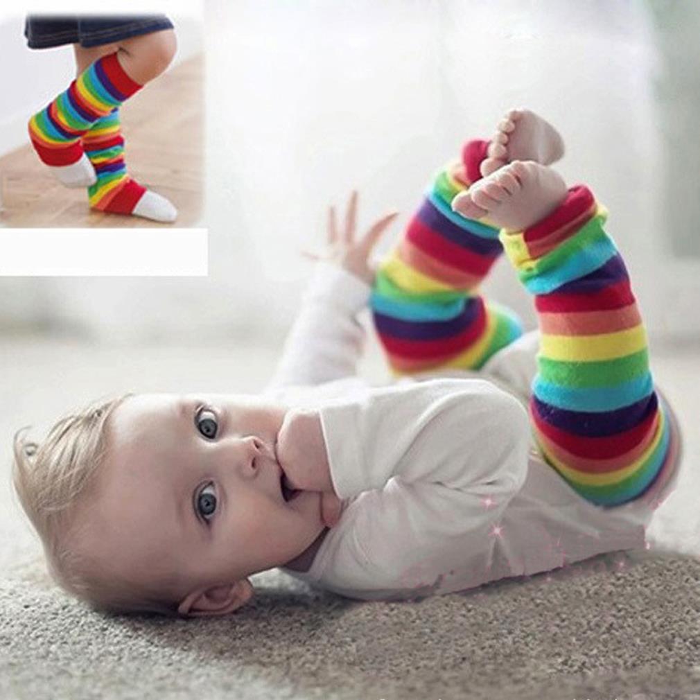 ᑐBebé rodilla pad niños Calcetines Calentadores para piernas ...