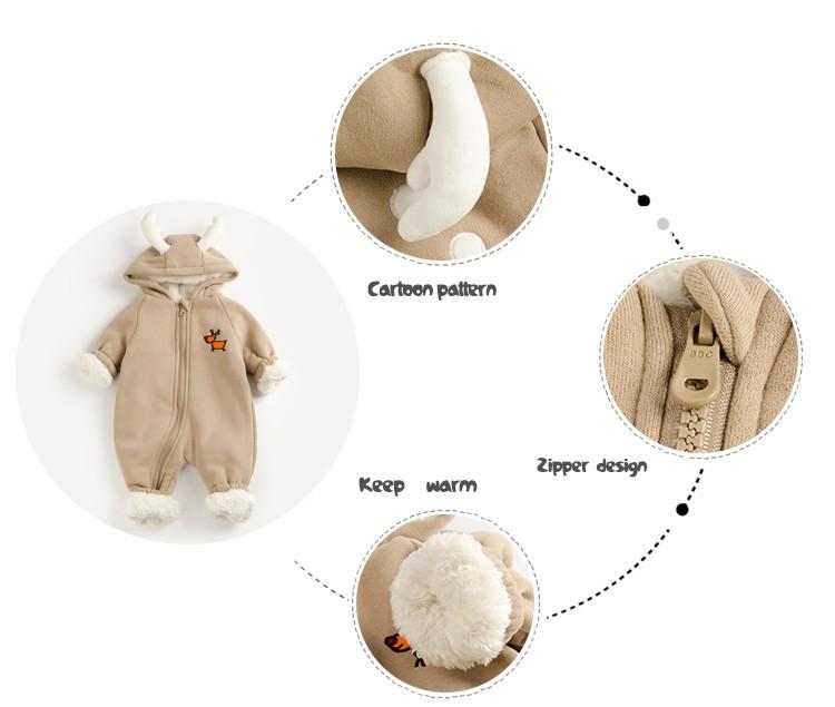 Navidad renos algodón nieve con sombrero bebé recién nacido Niño ...