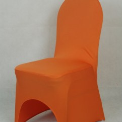 Wedding Chair Covers Wholesale China Glider Rocking And Ottoman Replacement Cushions Cover Dark Orange Colour Lycra Spandex Stretch Banquet Universal For ...