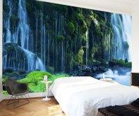 Waterfall-landscape-Mural-wallpaper-Natural-scenery-full ...