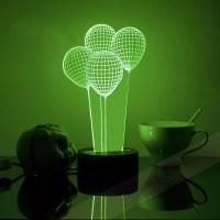 Free Shiping Balloon 3D Decor Light Acrylic Table Lamps