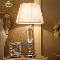 abajur de mesa lamparas europe brief crystal bedside lamp ...