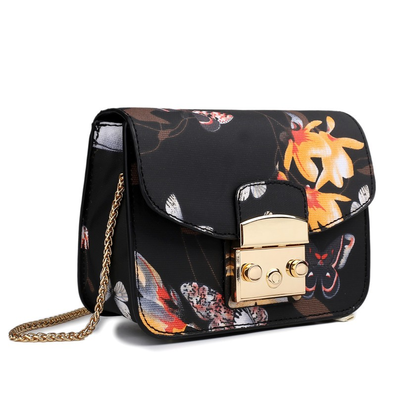 5e0b4d1d1726 Мода Мини щитка женские сумки сумка цепи сумки Messenger холст сумка ...