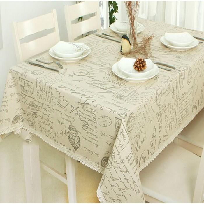 ᗛXyzls Europa estilo nueva moda Lino Encaje mantel paño de tabla ...