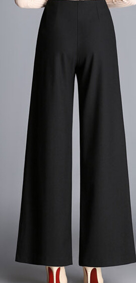 902b0b95d83 Wide leg pants for women embroidery plus size black red high waist pants  new fashion autumn spring full length trousers ayl0606