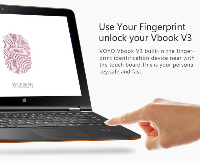 """VOYO VBOOK V3 Двойной Загрузки Win10 + Android 5.1 13.3 """"таблетки Z8300 Quad Core 2.16 ГГц Отпечатков Пальцев разблокировать 4 Г RAM 64 ГБ ROM YOGATablet"""