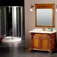 2015 new design bathroom cabinet/solid wood bathroom ...