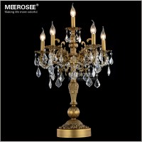 Luxurious Bronze Color Crystal Table Light Desk Light ...