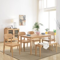 FULLLOVE Scandinavian modern minimalist wood dining table ...
