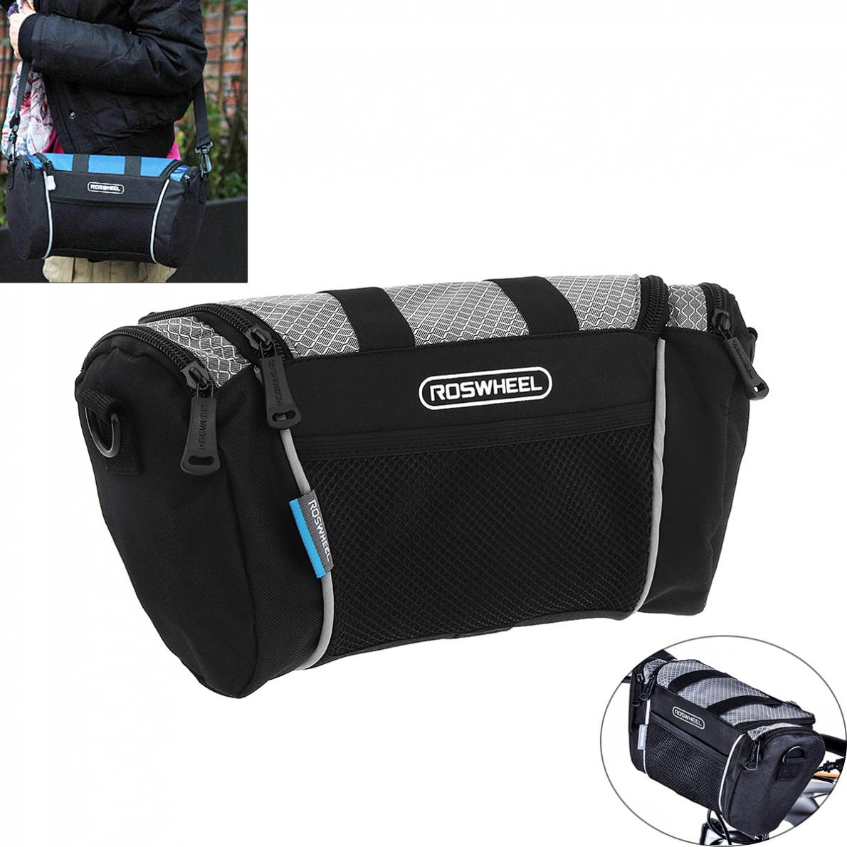 78575533f92 Roswheel 5L bolso de bicicleta de ciclismo bolso de manillar de bicicleta  de tubo delantero de