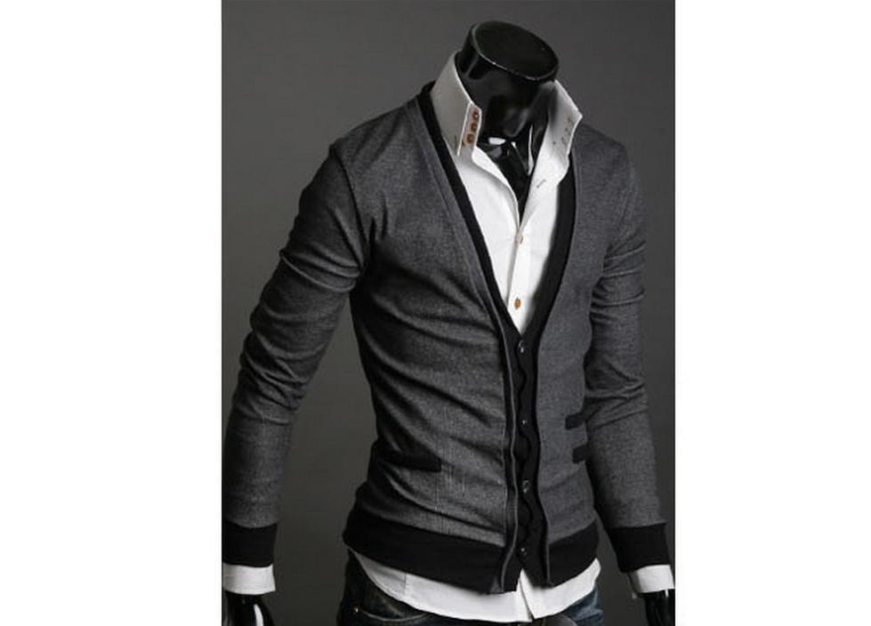 ③Inglaterra estilo dos homens marca de moda camisola dos homens de ... a26e093250f63