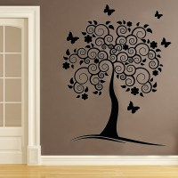 Vinyl Removable Wall Decals Swirl Flower Tree Wall Decor ...