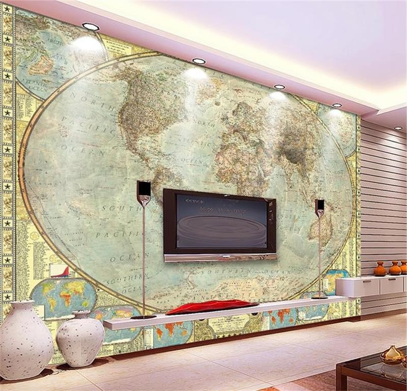 3d room retro world map painting wallpaper custom photo murals non 3d room retro world map painting wallpaper custom photo murals non woven sticker sofa tv background wall wallpaper for wall 3d gumiabroncs Gallery