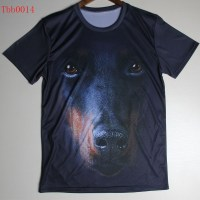 Hot Sale Men's 3D t shirt Innovative Animals dog/wolf T