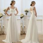 2016 Summer Beach Wedding Dress Line Lace Top Bride
