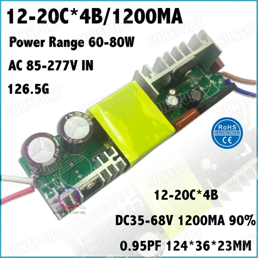 2 Pcs High Pfc Ip67 80w Ac85 277v Led Driver 12 20cx4b 1200ma Dc35 3w Mr16 Constant Current Ce Circuit Manufacturer From 10 Pieces 60w 18 30x3w 600ma Dc54 105v Power Supply For Floodlight Free Shippingusd 1519 7029 Pack
