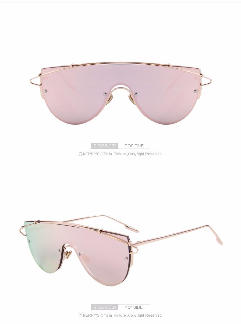 ef267c3598ef5 Feliz de las mujeres integrado twin-beams Sol gafas marca diseñador lente  de panel plano s