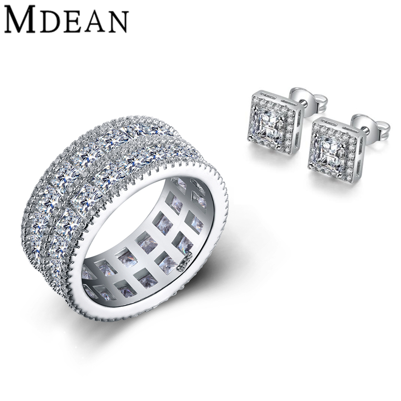 Aliexpress.com : Buy MDEAN ring+earrings Engagement white