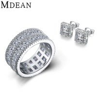 Aliexpress.com : Buy MDEAN ring+earrings Engagement white ...