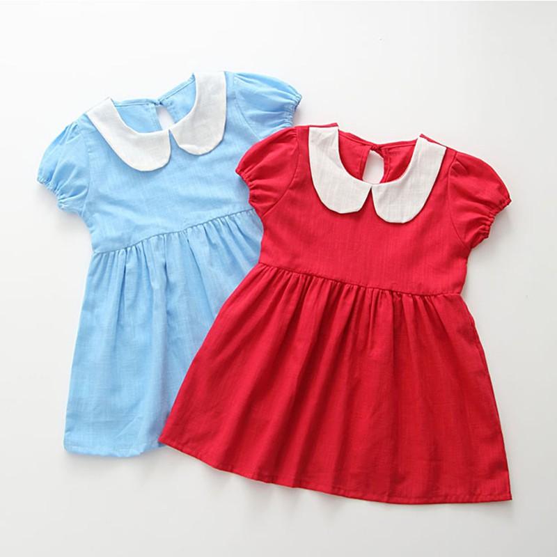 f131feddb Nuevo vestido de bebé niña verano bebé lindo vestido de algodón ...