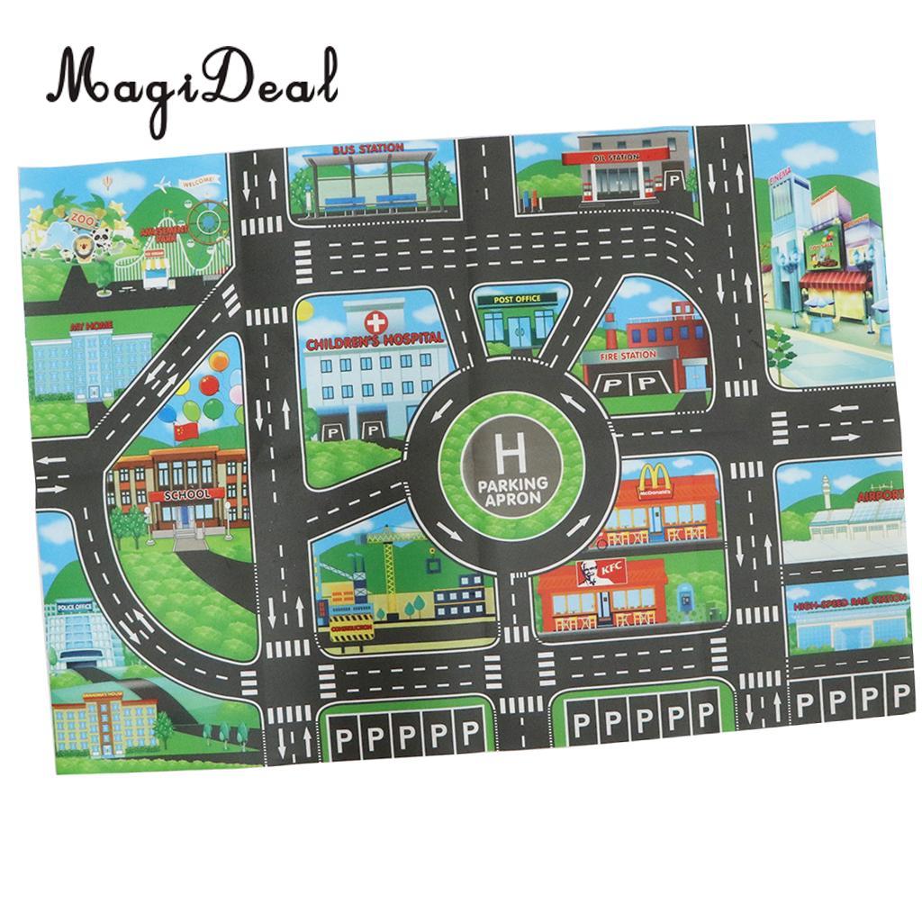 Miasto Ruchu Drogowego Dywan Playmat Dywan Dla Samochody Pociąg Gry Zabawki Dla Dzieci Edukacyjne Dla Dzieci Zagraj Mat Do Sypialni Grać Pokój Gra