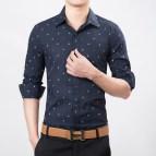Polka Dot Shirt Men Slim Fit