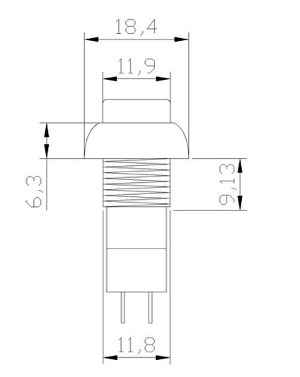 Red No 2 Pin Spst 3a 125vac Momentary 12mm Hole Push Button Switch. Wiring. Of Diagram Doorbell A Wiring Wl 4a At Scoala.co