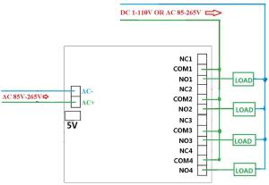 AC 110V AC 120V AC 220V AC 240V AC 85~AC265V DC 5V 4