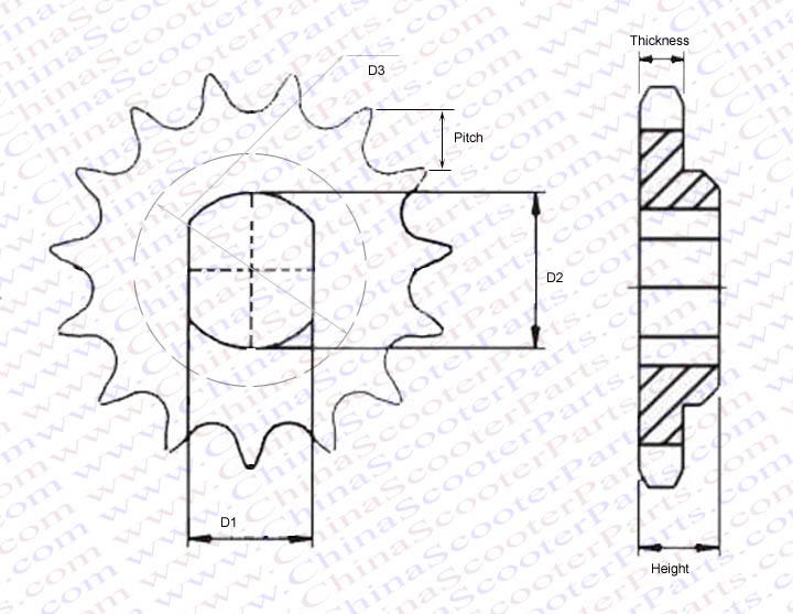 ᗛ12 Tooth 415 420 Front ᗐ Sprocket Sprocket KTM SX 50 LC ᐂ