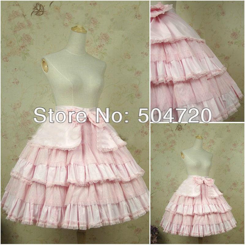 80c9ed1741e ∞Розовый хлопок Кружево классический сладкий Лолита платье косплей ...