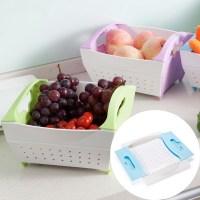 Foldable Home vegetable Drain basket Fruit and Vegetable ...