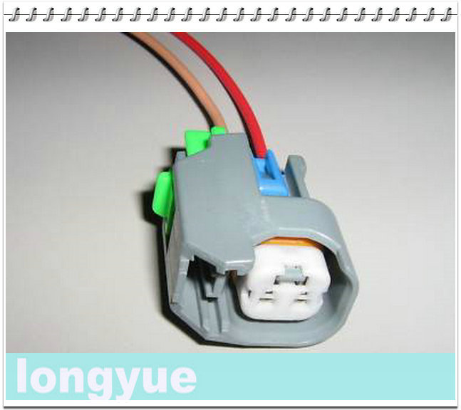 longyue 2pcs for FORD FUEL INJECTOR WIRING CONNECTOR EV6 30cm wire ...