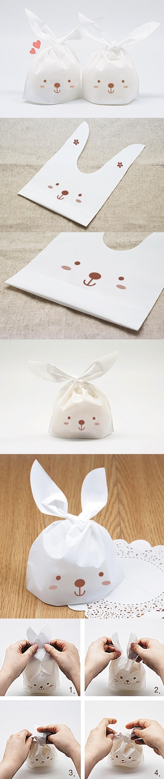 ᐊEnvío libre del oído de conejo bolsas bolso de empaquetado del ...