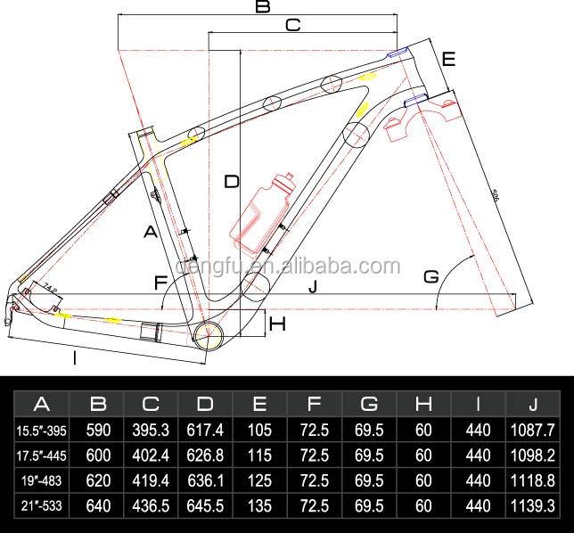DengFu 29er mountain bicycle frame, MTB bike frame, 29er
