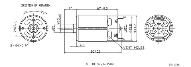 Rs755 9.6v 12v 24v High Speed Low Rpm Hight Torque Dc