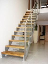 Indoor glass railing modern open riser stairs, View modern ...