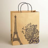 Fashion Paper Carry Bags Black White Design Paper Bag