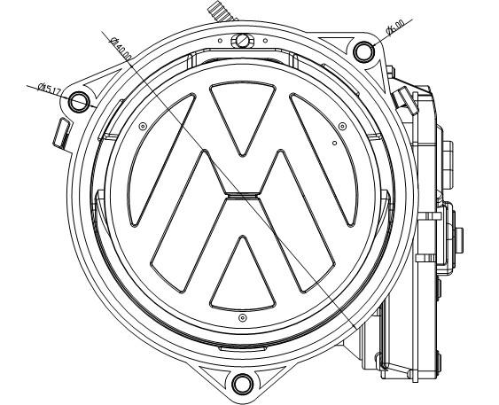 Sécurité de Voiture RNS510 Arrière VW Logo de caméra pour