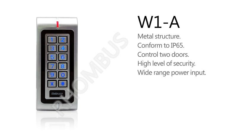 Metal waterproof two-door EM card Keypad standalone access