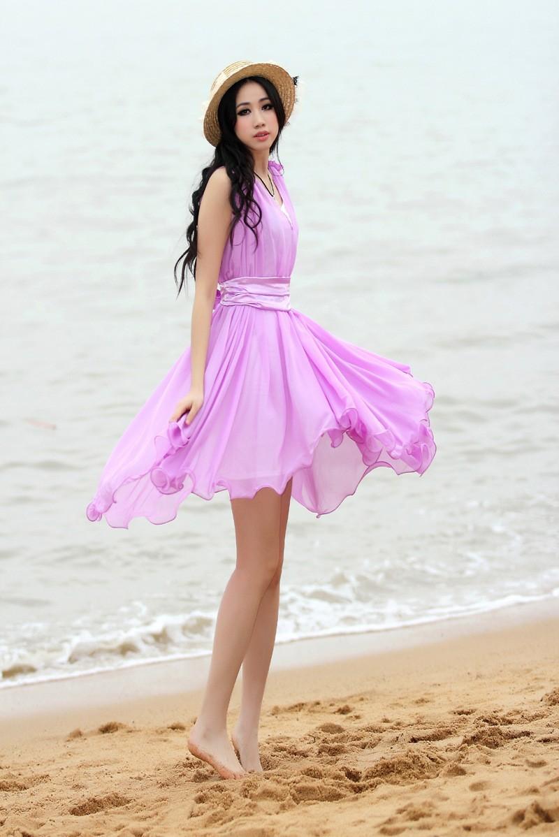 ᗔ2014 nuevo verano de dos piezas traje vestido de verano playa ...