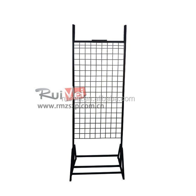 Metal Wire Grid Mobile Phone Accessories Display Shelf