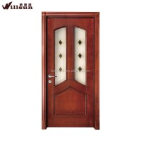 Used Open Paint Solid Wood Interior Doors For Entrance ...