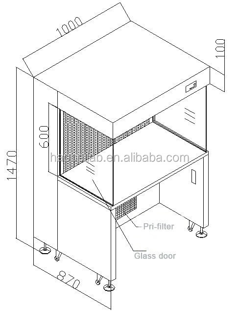 Laboratory Equipment Bench Top Fume Hood Fume Cupboard