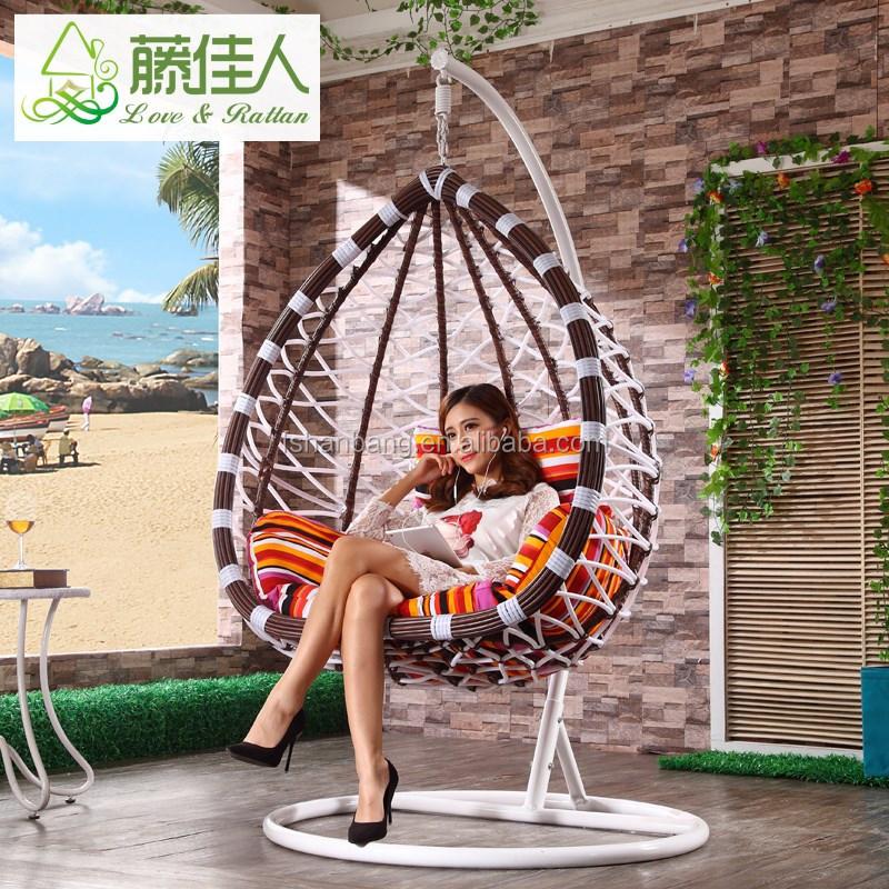 outdoor wicker hammock chair colored resin adirondack chairs patio al aire libre columpio huevo de mimbre ratán muebles silla jardín piscina porche ...